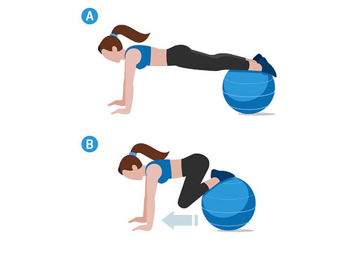 Leg Pull-in für den gesamten Körper