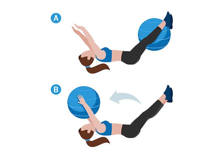 Das Klappmesser für Bauch und Beine