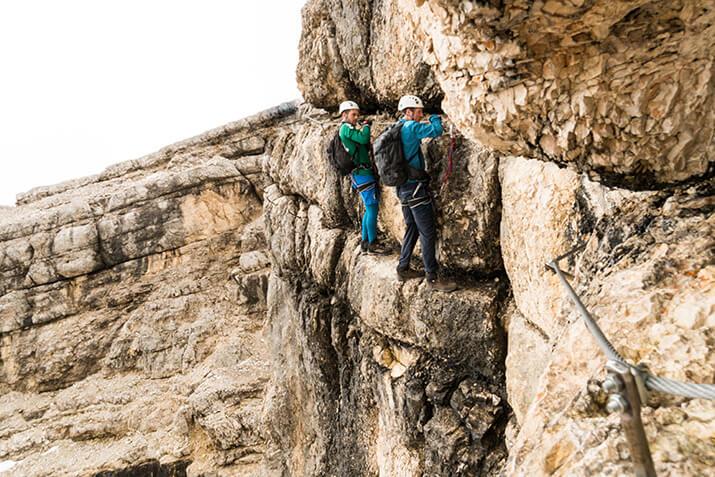 Klettersteig oder Via Ferrata