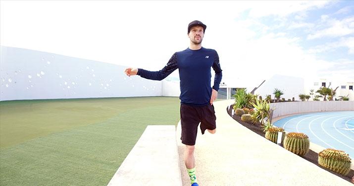 Patrick bei der Schwungübung 1