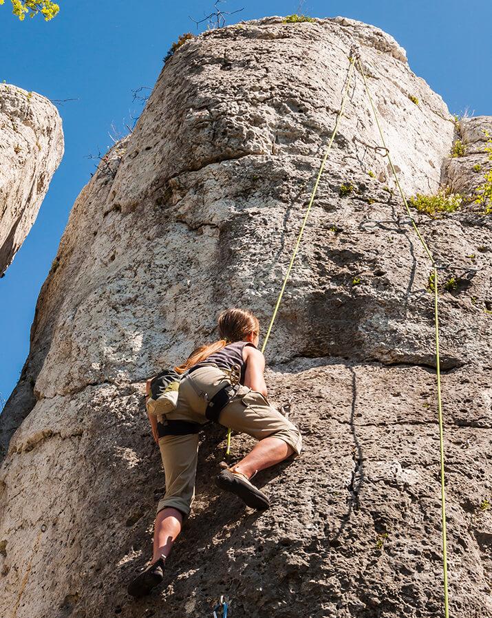 Toprope-Klettern