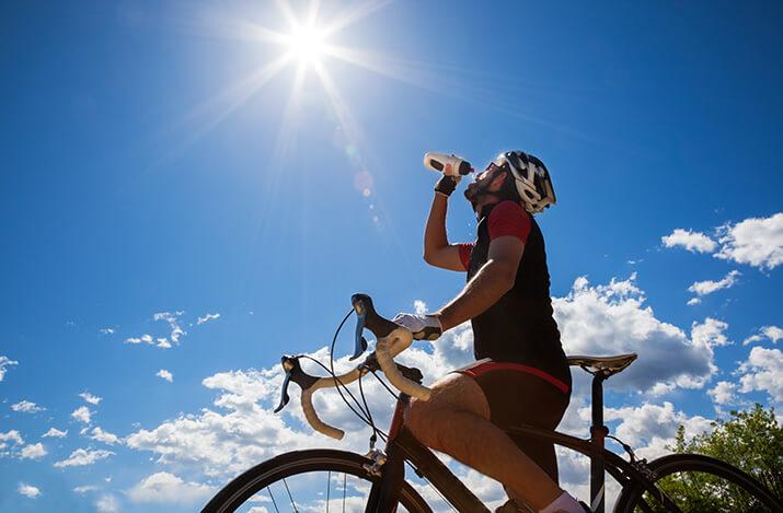 Verpflegung beim Radsport