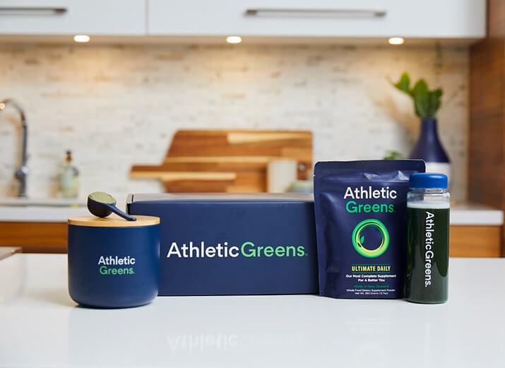 Produkte von Athletic Greens.