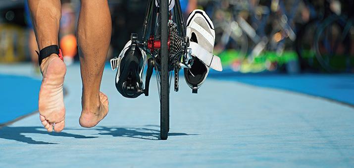 Auf dem Rad im Triathlon