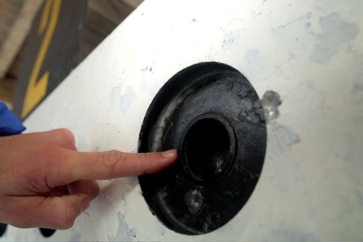 Der innere Ring des Ziels sind die 45 Millimeter-Trefferzone für liegende Schützen