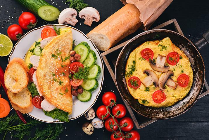 Omelette mit Putenbrust und Pilzen von Andi Dreitz