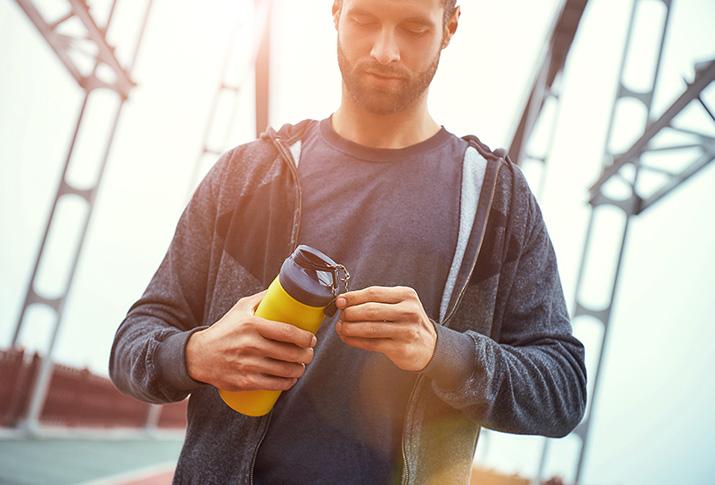 Für ein umweltbewusstes Training: die Trinkflasche