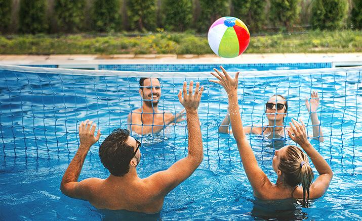 Wasser-Volleyball: Für alle, die ihre Hände nicht vom Ball lassen können