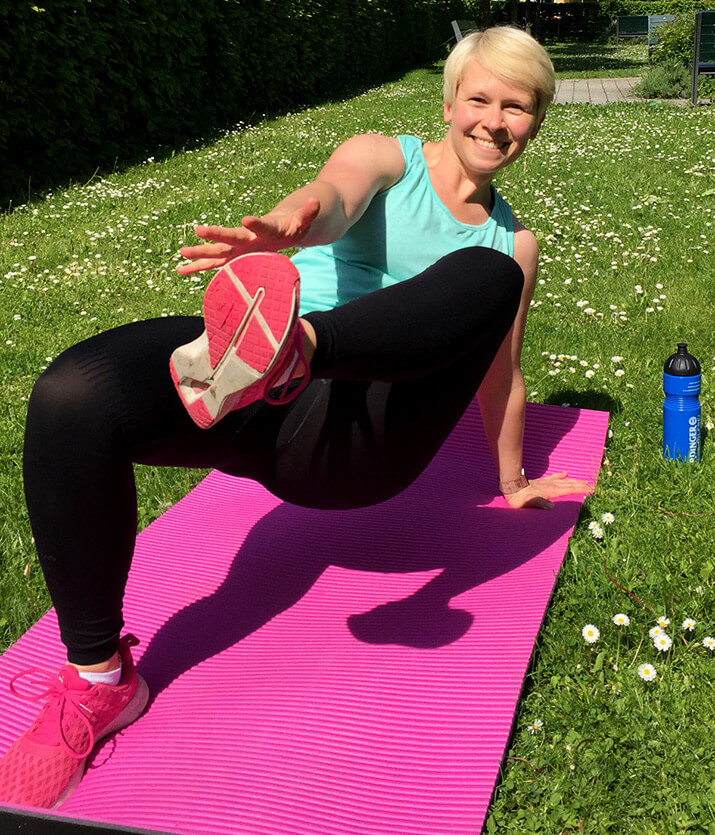 Woche 4 Workout 10 Side Plank Twist