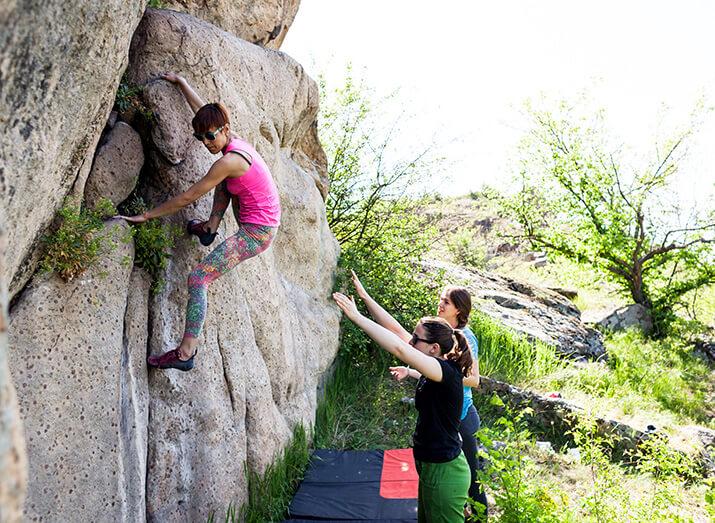 Trendsportart 2: Bouldern im Freien