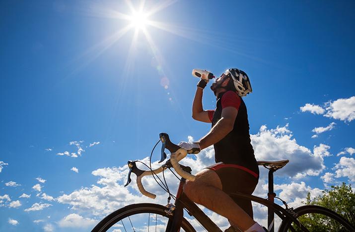 Verpflegung beim Radfahren