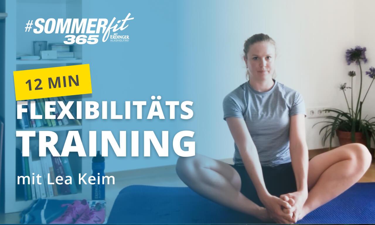 12 Min. Flexibilitätstraining mit Lea Keim | Sommerfit365 mit ERDINGER Alkoholfrei