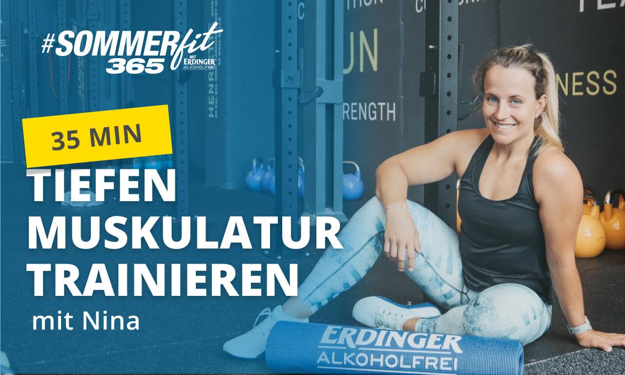 Tiefenmuskulatur trainieren mit Nina | Warm-up & Cool-down | Sommerfit365 mit ERDINGER Alkoholfrei