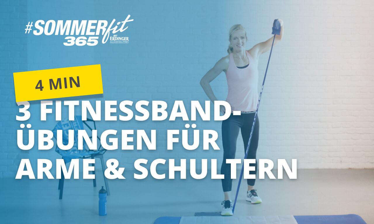 Effektive Fitnessband-Übungen für Arme & Schultern | Sommerfit365 mit ERDINGER Alkoholfrei