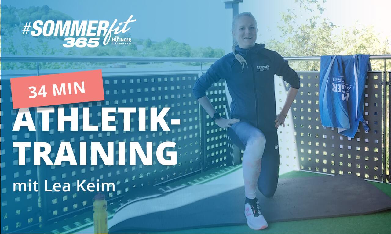 34 Min Athletik-Zirkeltraining mit Lea Keim | 3x7 Übungen | Sommerfit365 mit ERDINGER Alkoholfrei