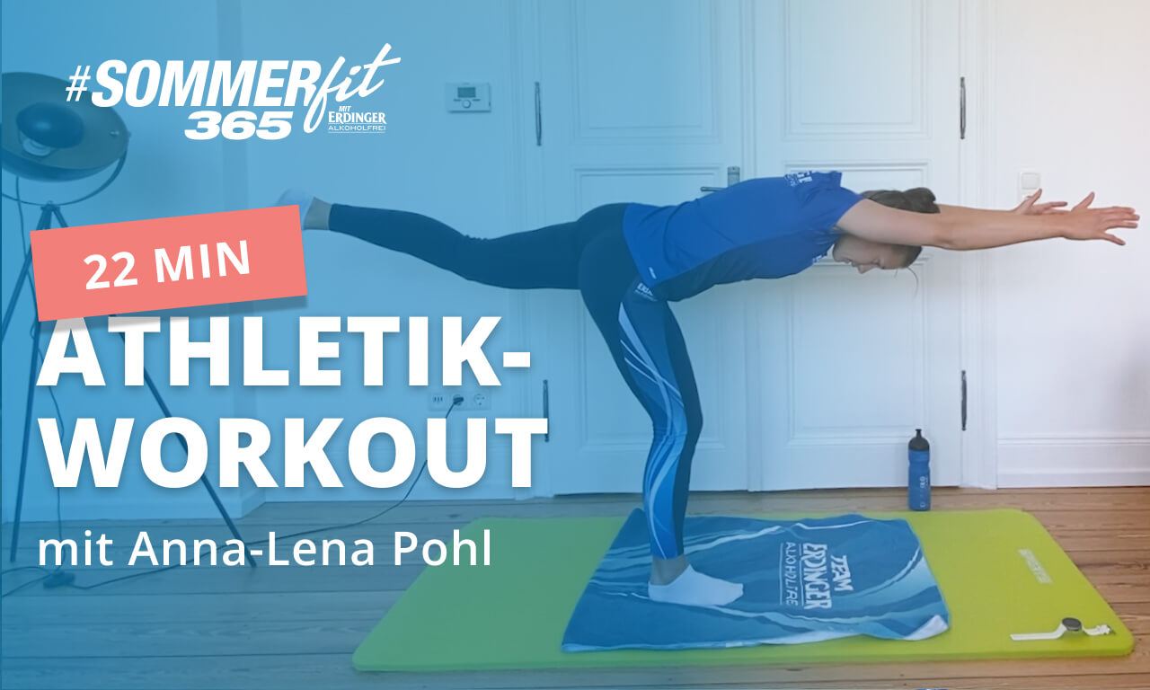 2 Min. Athletik-Training mit Anna-Lena Pohl | Home Workout | Sommerfit365 mit ERDINGER Alkoholfrei