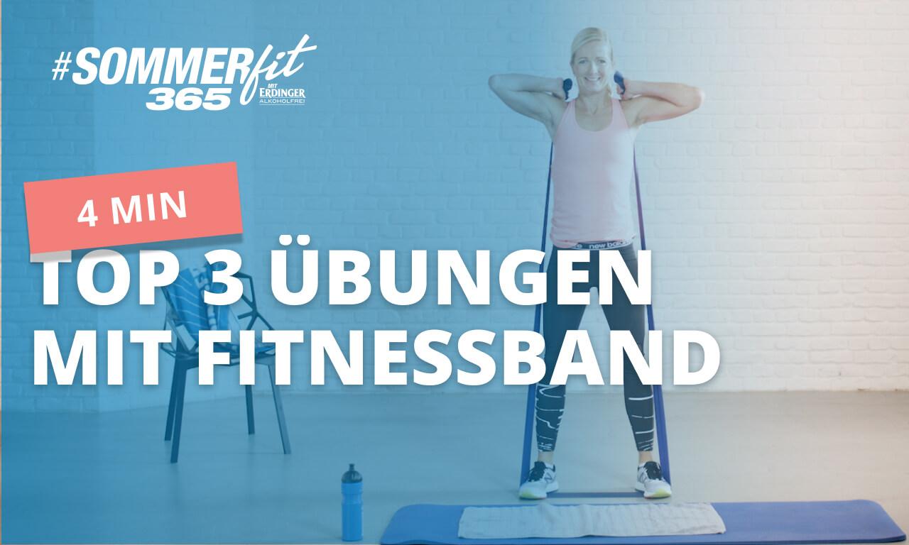 3 Fitnessband-Übungen | straffe Beine mit dem Fitnessband | Sommerfit365 mit ERDINGER Alkoholfrei